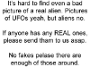 Real Aliens Wanted